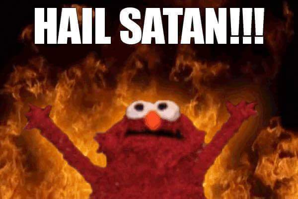 satan, elmo memes